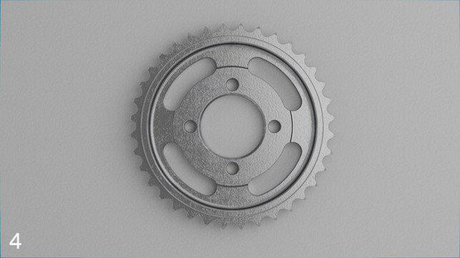 Etape 4 : pièce finale en métal imprimée sur la Metal X